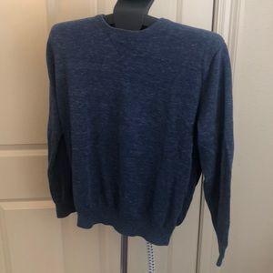 Men's blue Jcrew Crewneck Sweater.